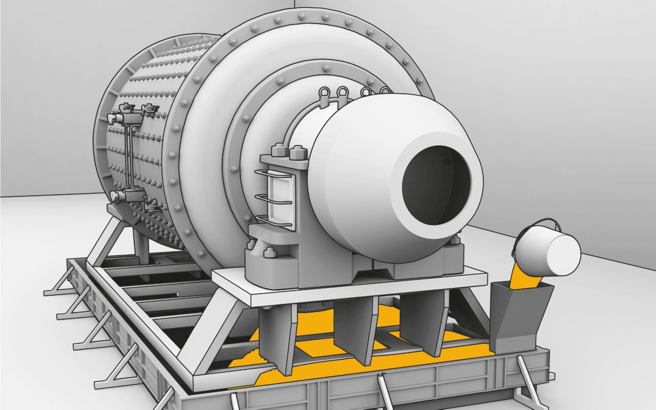 Cementitious grout machine graphic