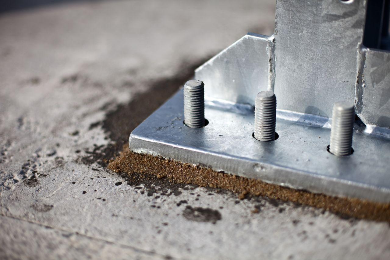 undergjutning torrbruk betong