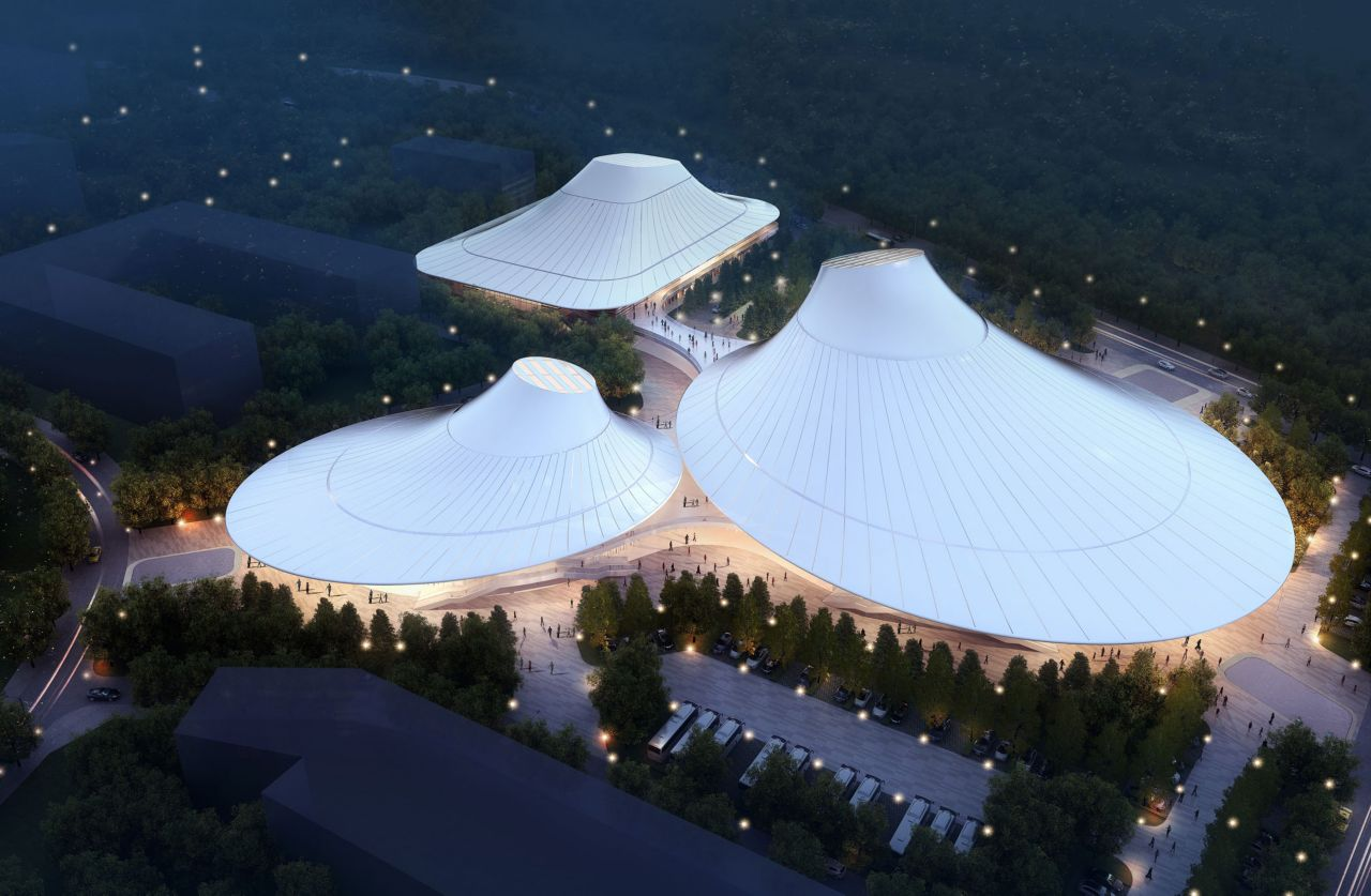 Indoor stadium of Yulin vocational and technical college, Shanxi province (West China)