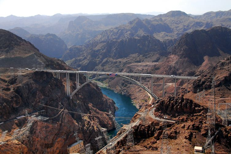 Colorado River Bridge over Hoover Dam in United States