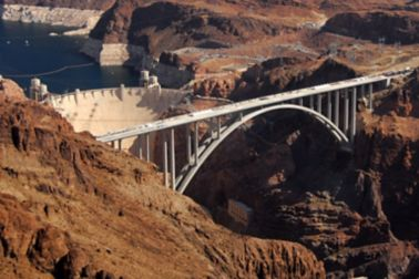 Colorado River Bridge over Hoover Dam in United States