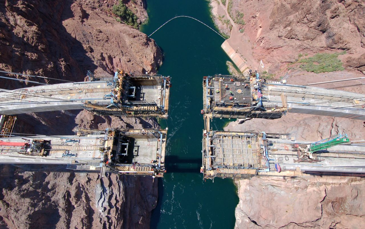 Colorado River Bridge precast concrete structure produced with Sika admixtures