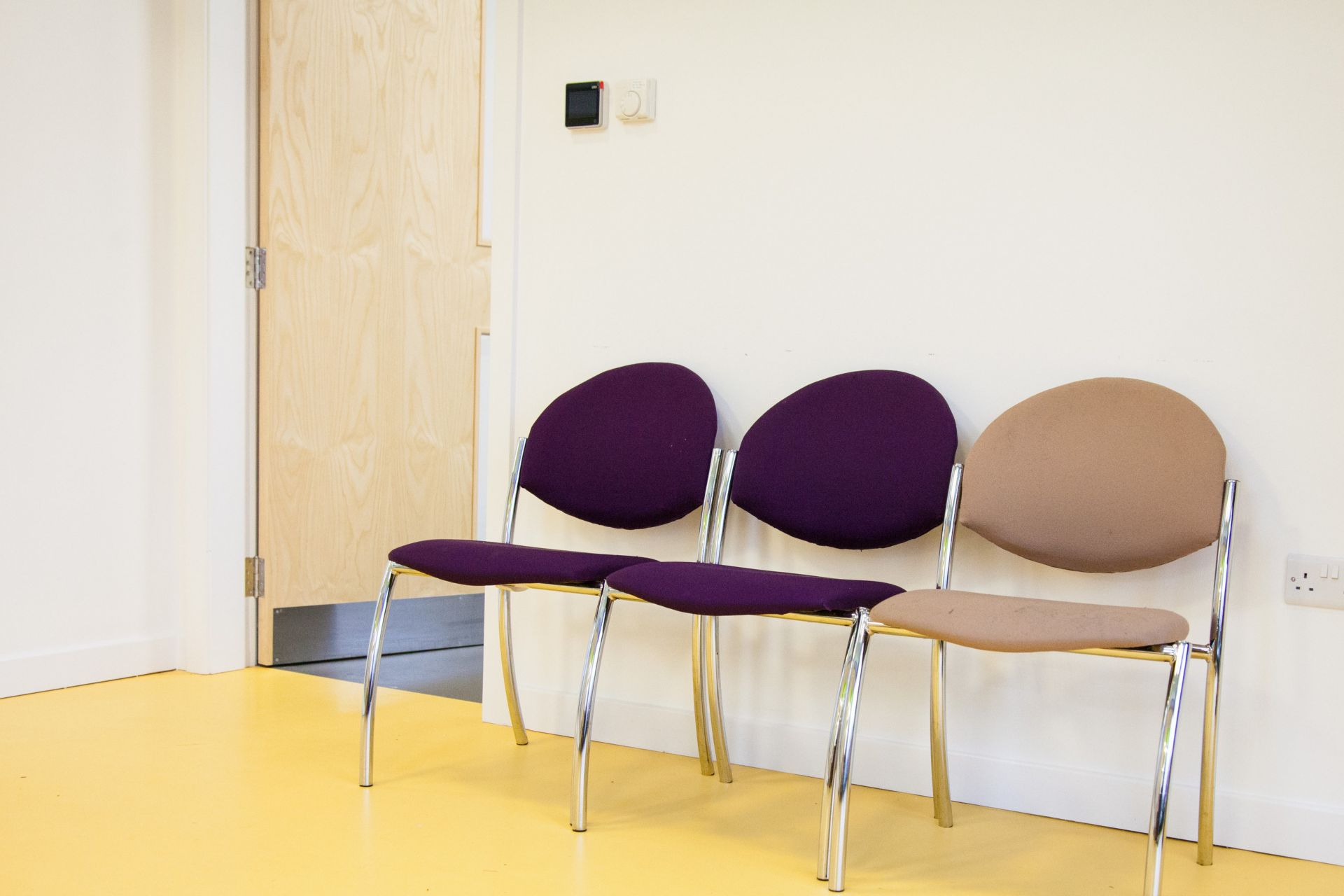 Decorative Yellow Comfortfloor applied at the Corridor of a hospital