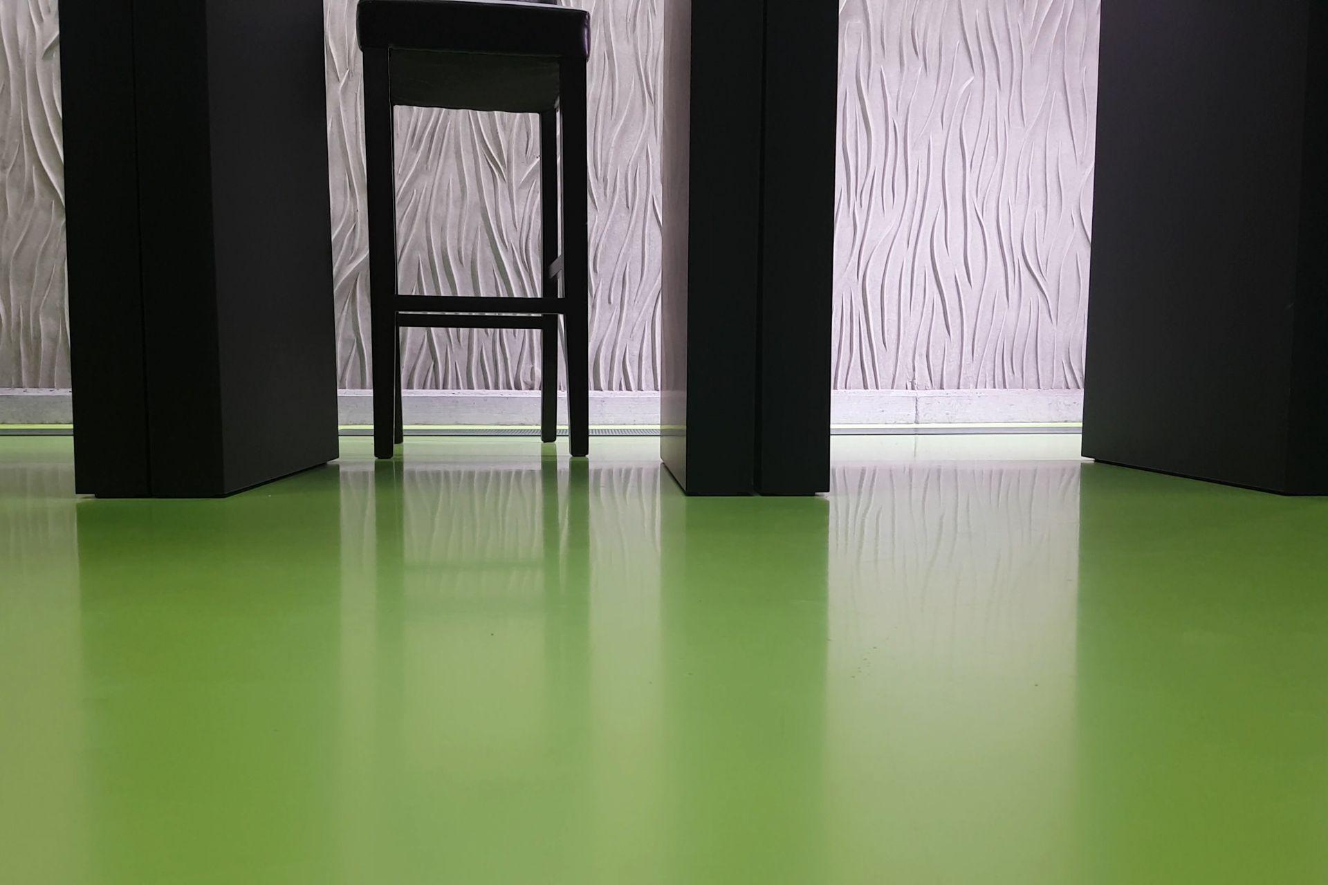 Decorative green floor with Sika ComfortFloor®