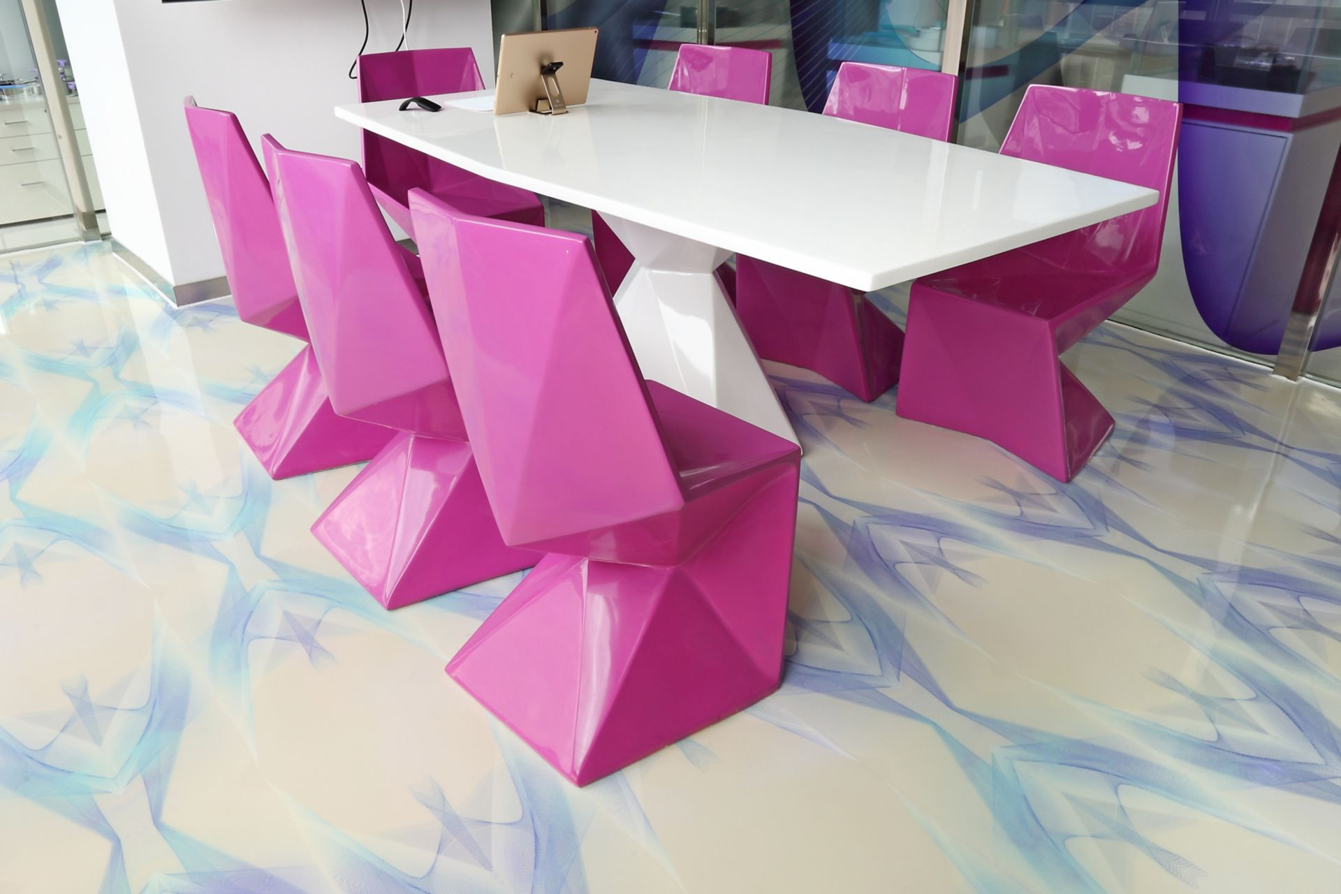 Sika ComfortFloor® pattern floor at Karim Rashid Design Institute in China
