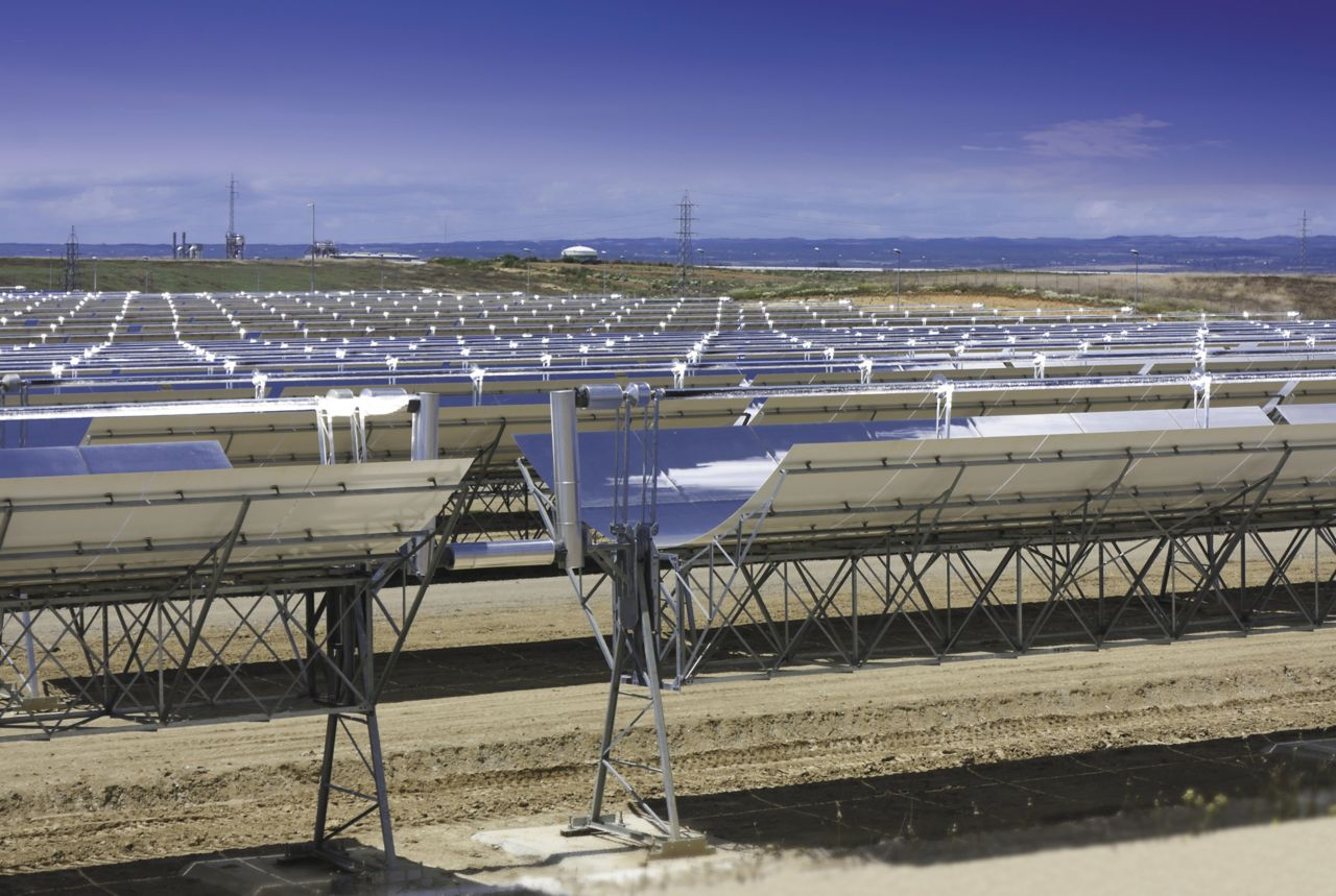 Concentrated solar power CSP farm