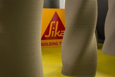 3D concrete printed columns with Sika admixtures