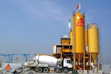 Concrete batching plant using Sika admixtures for ready mix concrete production