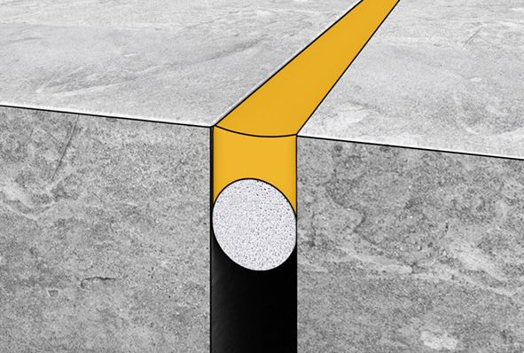 Sealing connection joints between concrete and concrete