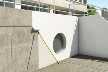 Application of Sikacryl concrete protection system on a residential building