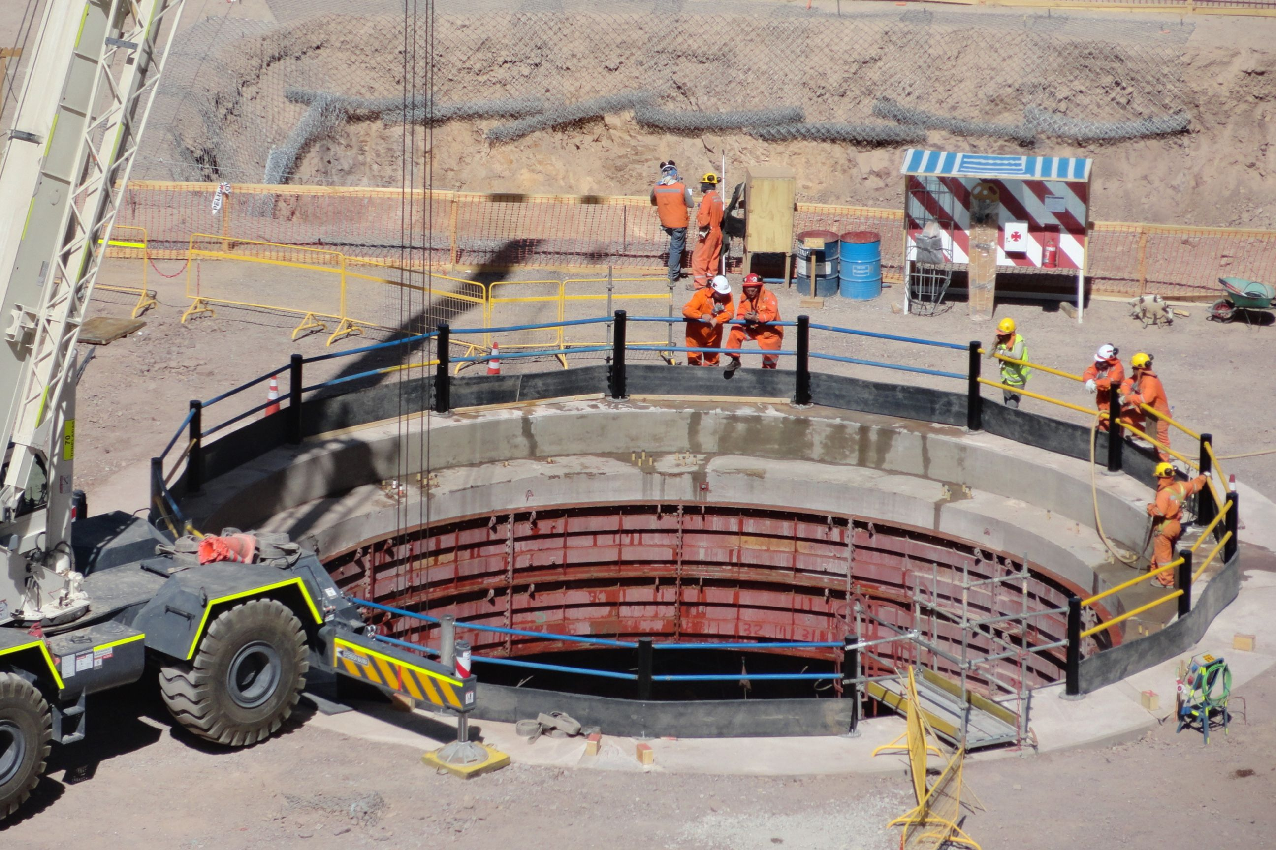 Construction at Chuquicamata Underground Mine in Chile