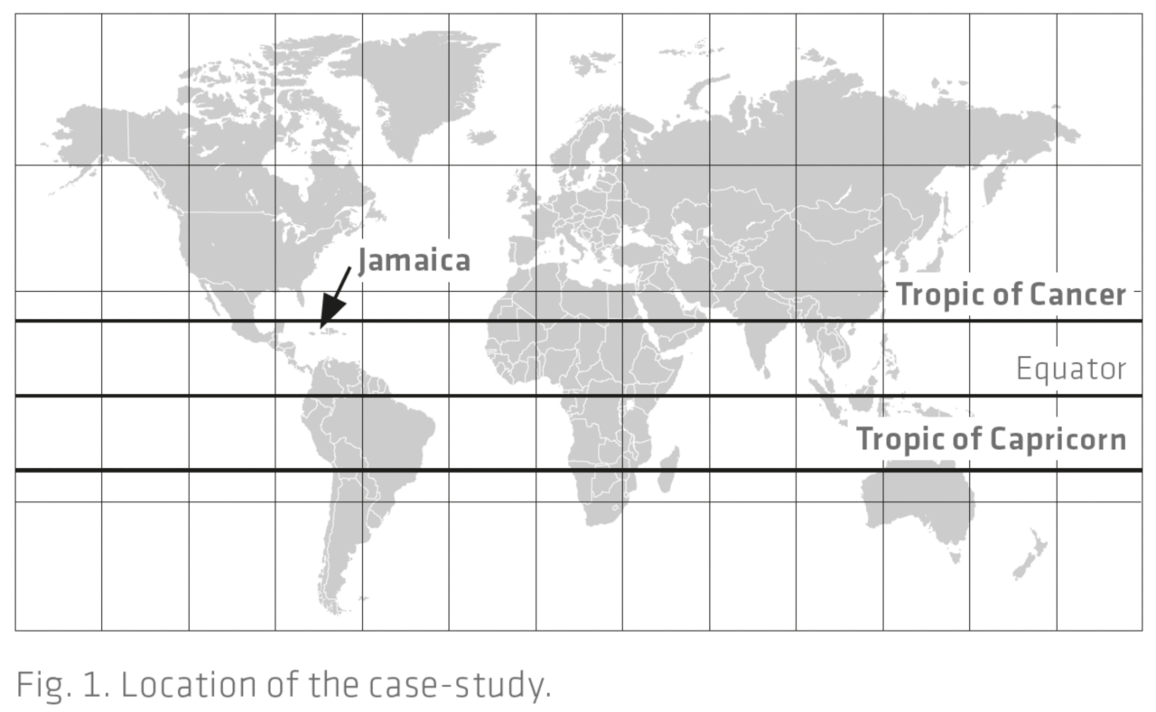 """Map showing the location of the """"Cool roofs in Hot Climate countries"""" Study"""