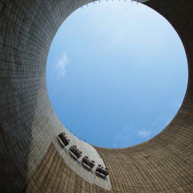 Concrete repair inside cooling tower with Sika MonoTop repair mortars