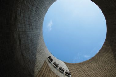 Concrete repair inside cooling tower with Sika MonoTop repair mortars