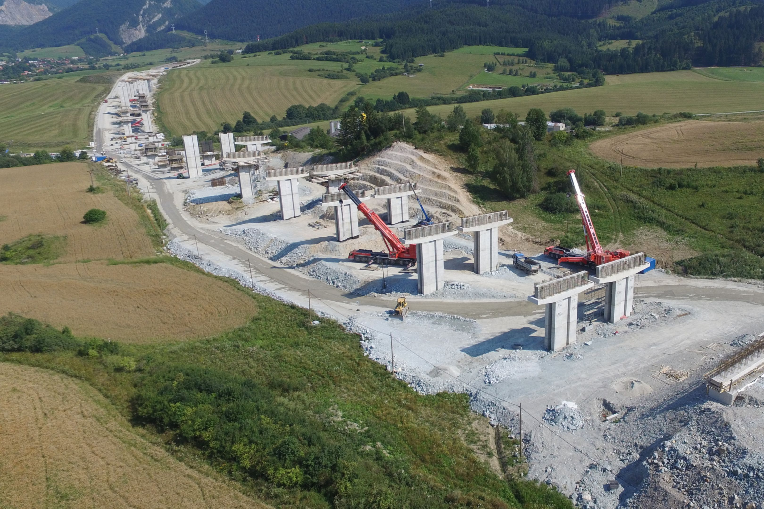Construction Site of D1 Highway Tunnel in Slovakia between Dubna Skala-Visnove