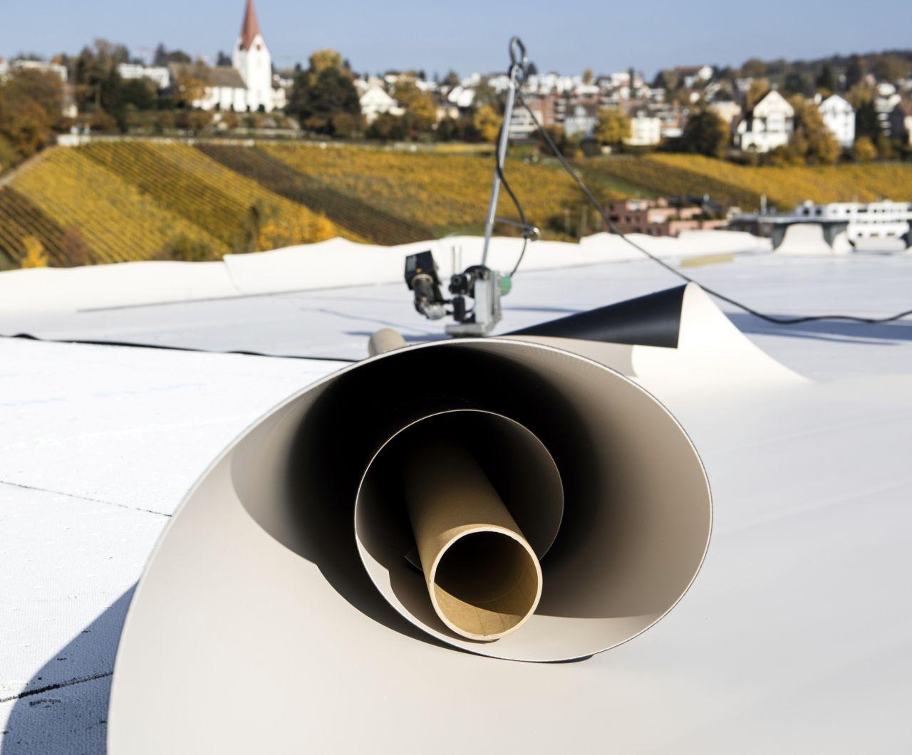 Waterproofing membrane applied on a roof