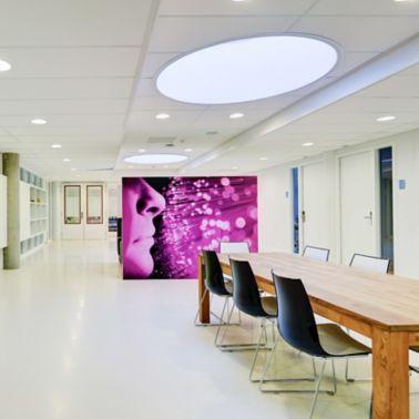 Decorative floor made with Sika ComfortFloor system in Aloysius College in Hilversum in Netherlands