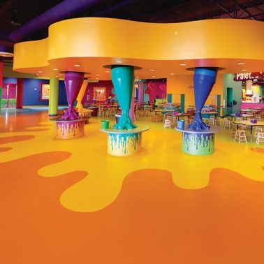 Sika Comfortfloor® system for decorative floor-crayola