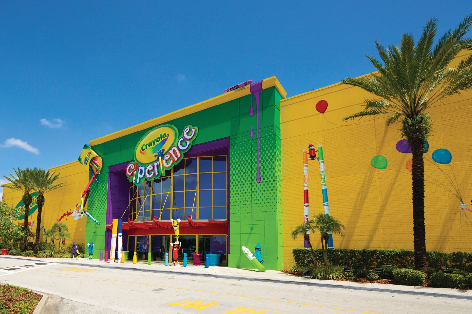 The decorative floor of Crayola Family Park in Orlando, Florida