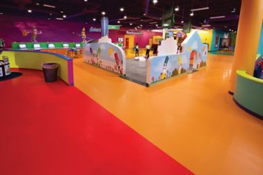 The decorative floor of Crayola Family Park in Orlando, Florida