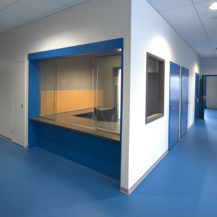 Sika ComfortFloor blue floor at Kokkola Campus in Finland