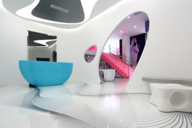 Decorative floor made with Sika ComfortFloor system in Karim Rashid Design Institute in Shenzhen in China