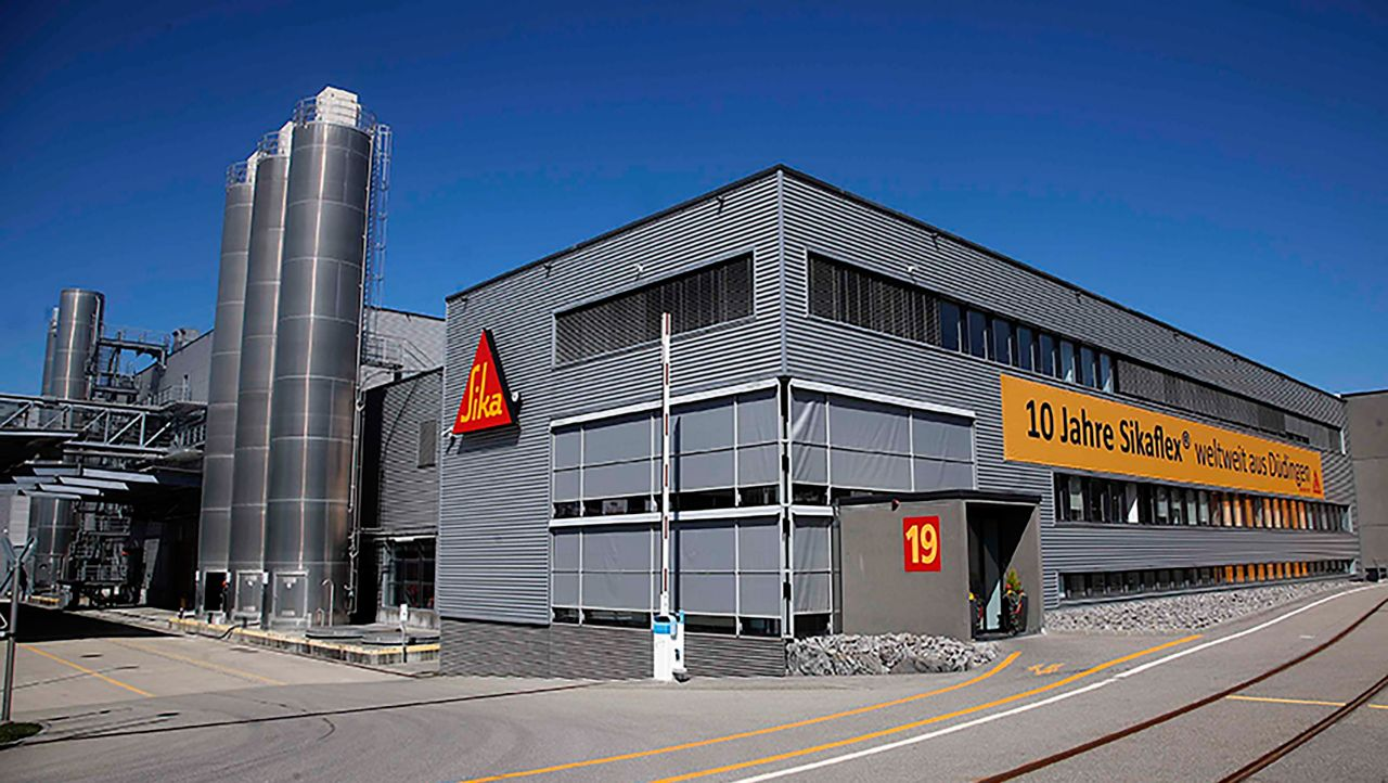 The Düdingen Plant where approximately 200 Sika employees work