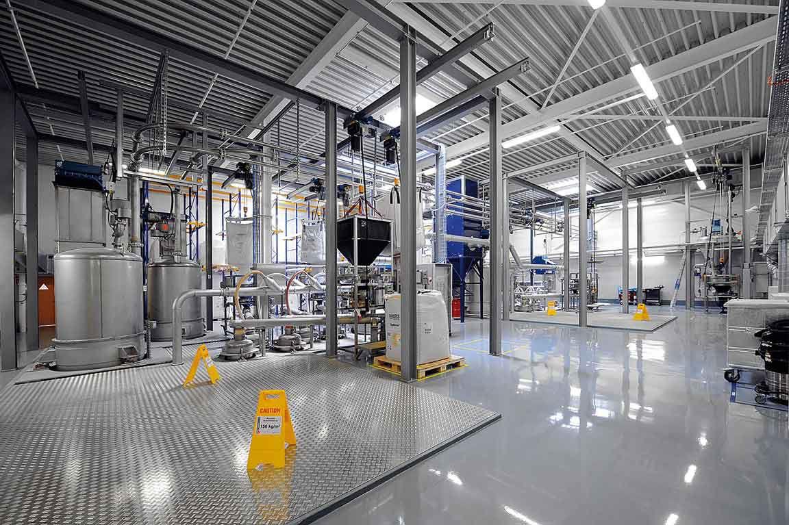 Sika Factory in Düdingen, Switzerland