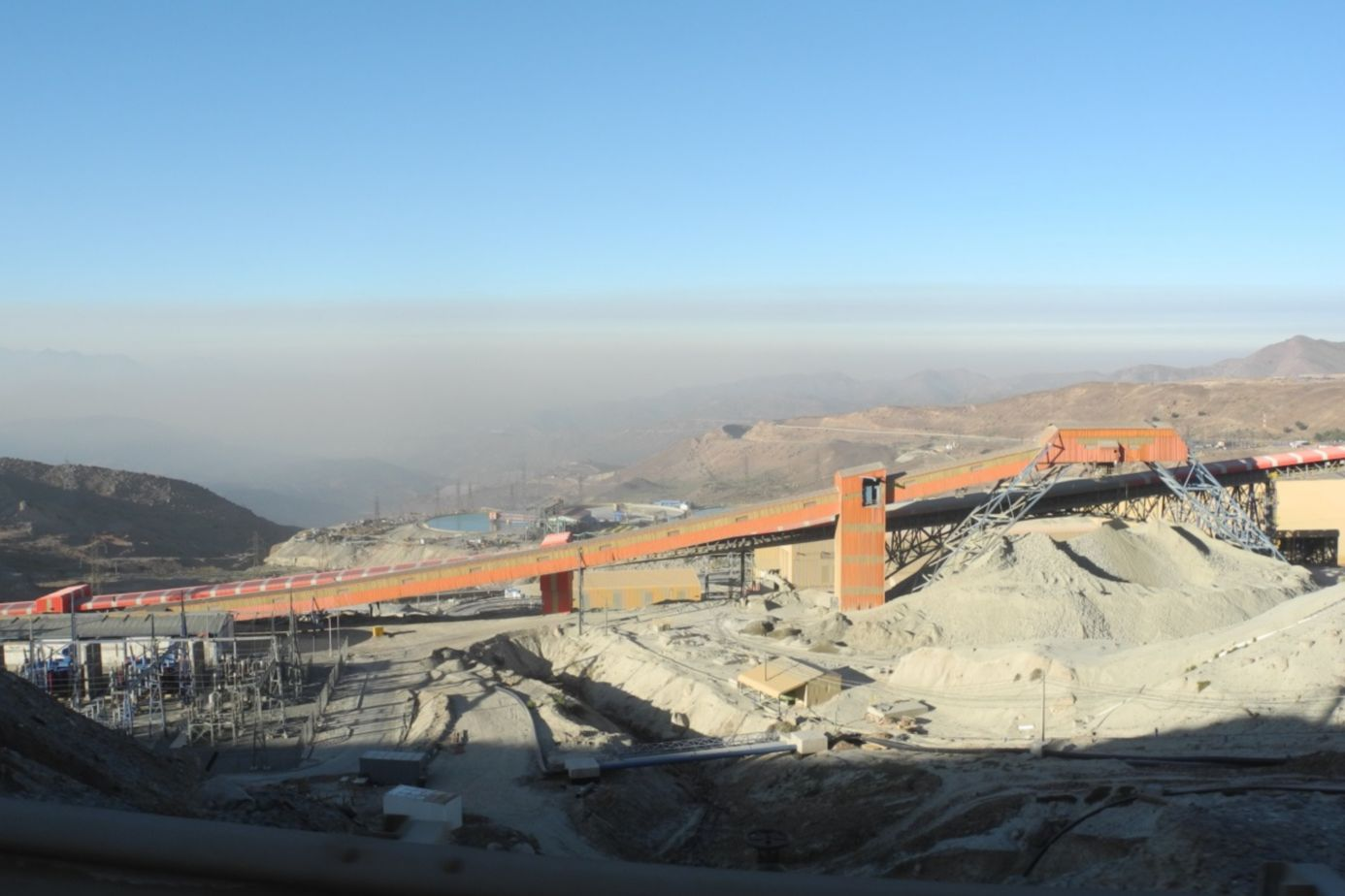 Infrastructure of El Teniente Mine in Chile
