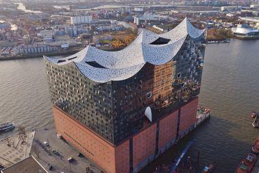 Architecture of Elbphilharmonie in Hamburg Germany