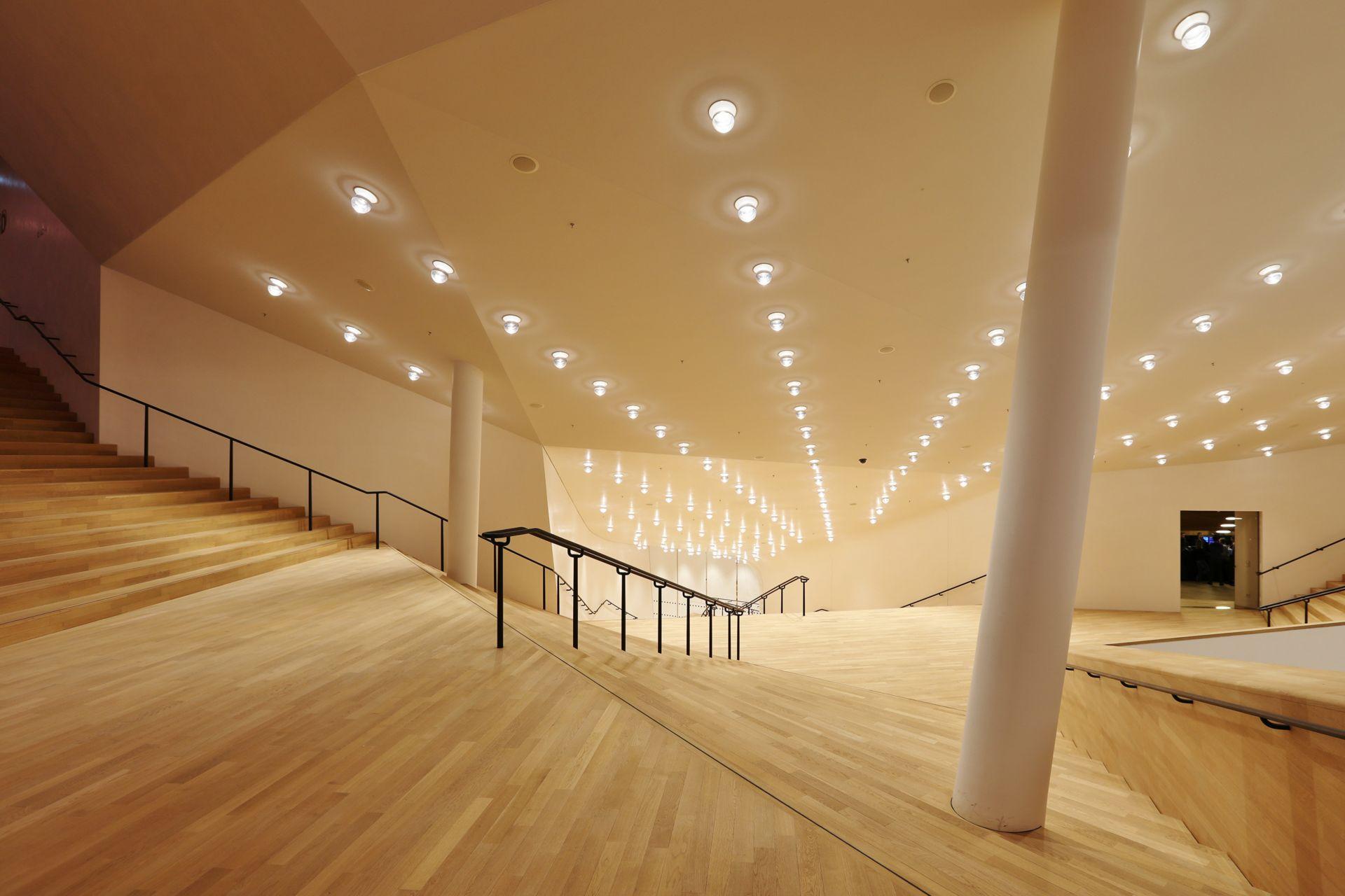 Interior of Elbphilharmonie in Hamburg Germany