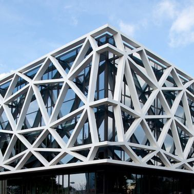 Facade bonded with honeycomb panels using SikaForce and SikaMelt