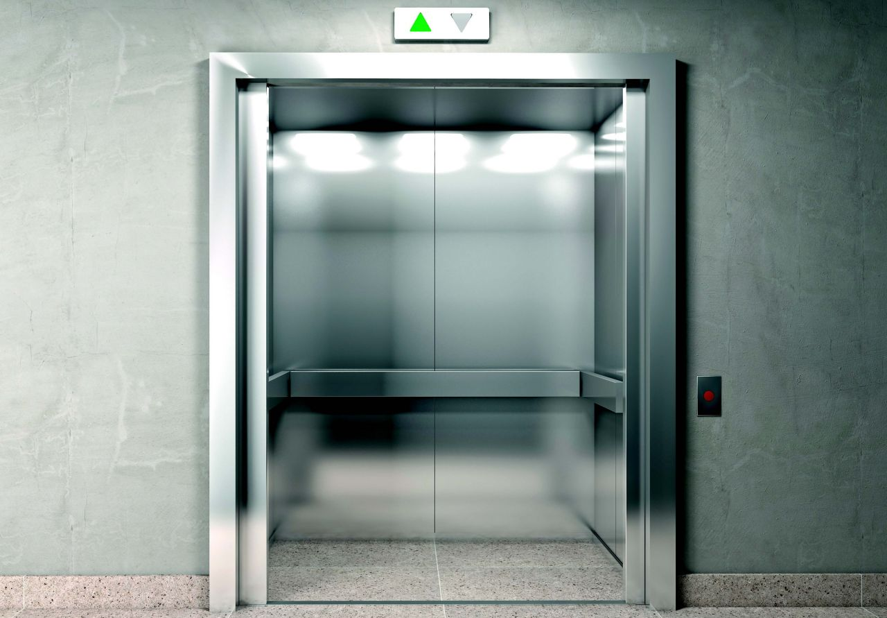 With Sika product bonded Elevator in a building