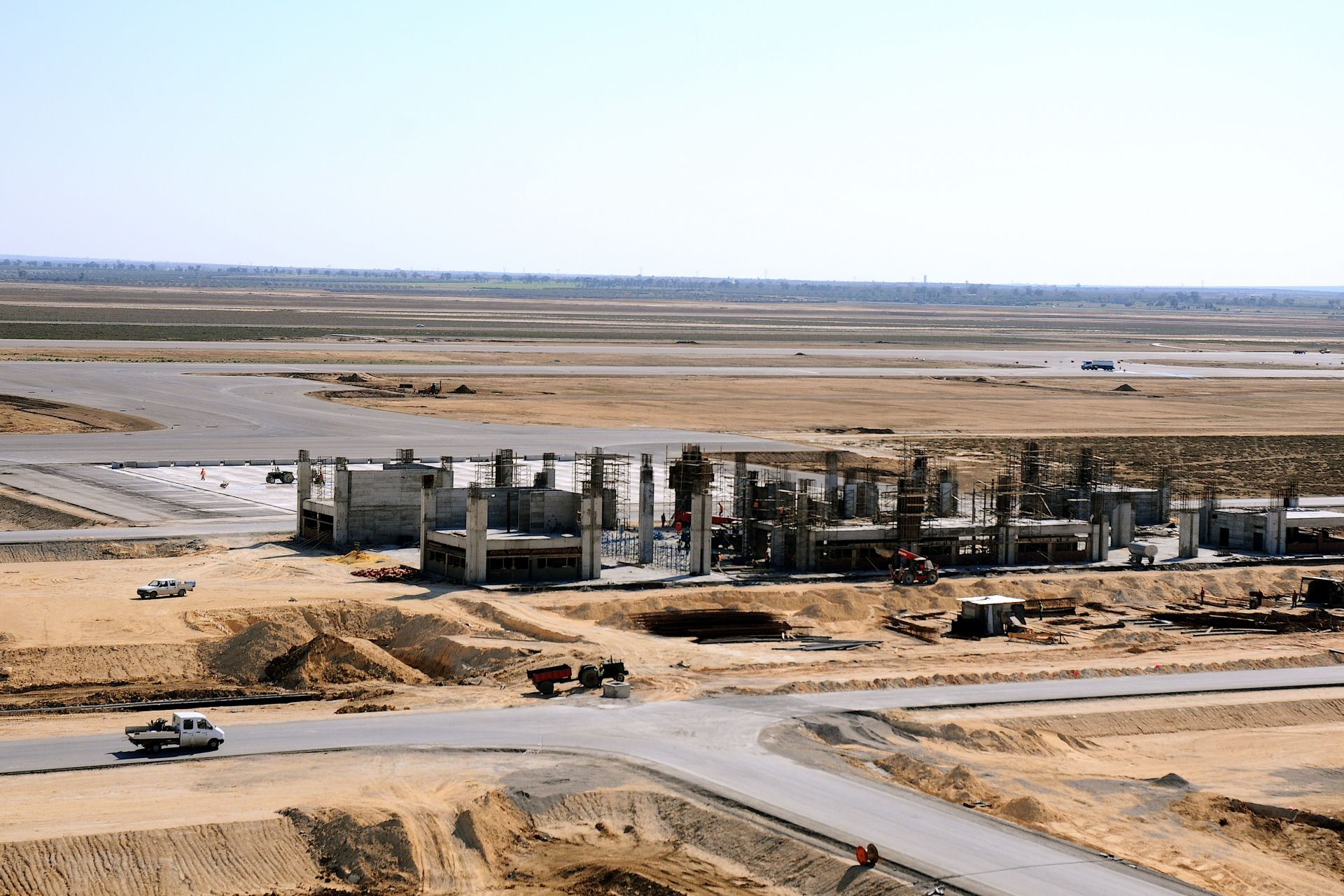 Construction of Enfidha Airport, Tunisia