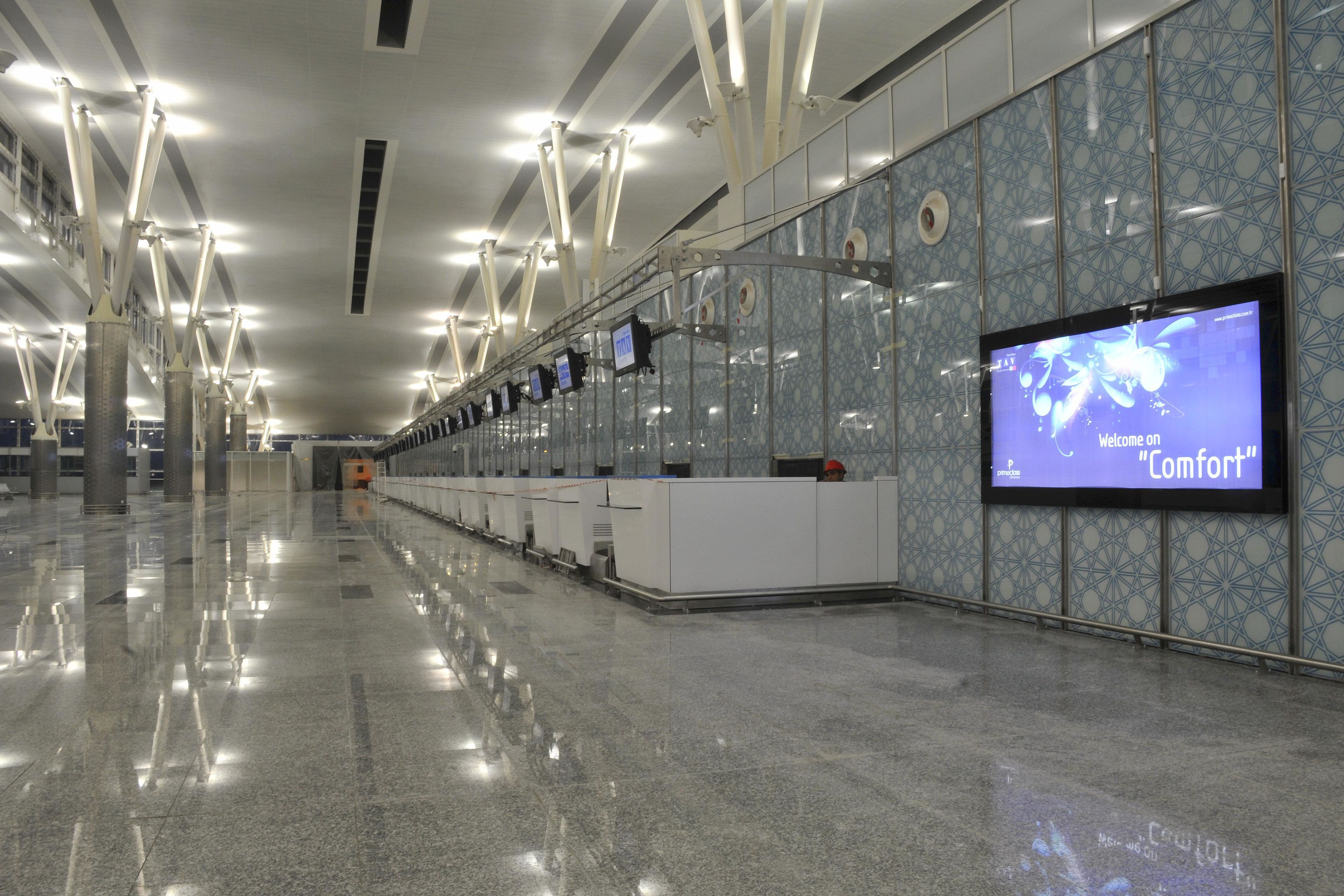 Check-in area of Enfidha Airport, Tunisia