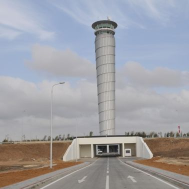 Road leading to the Enfidha Airport, Tunisia