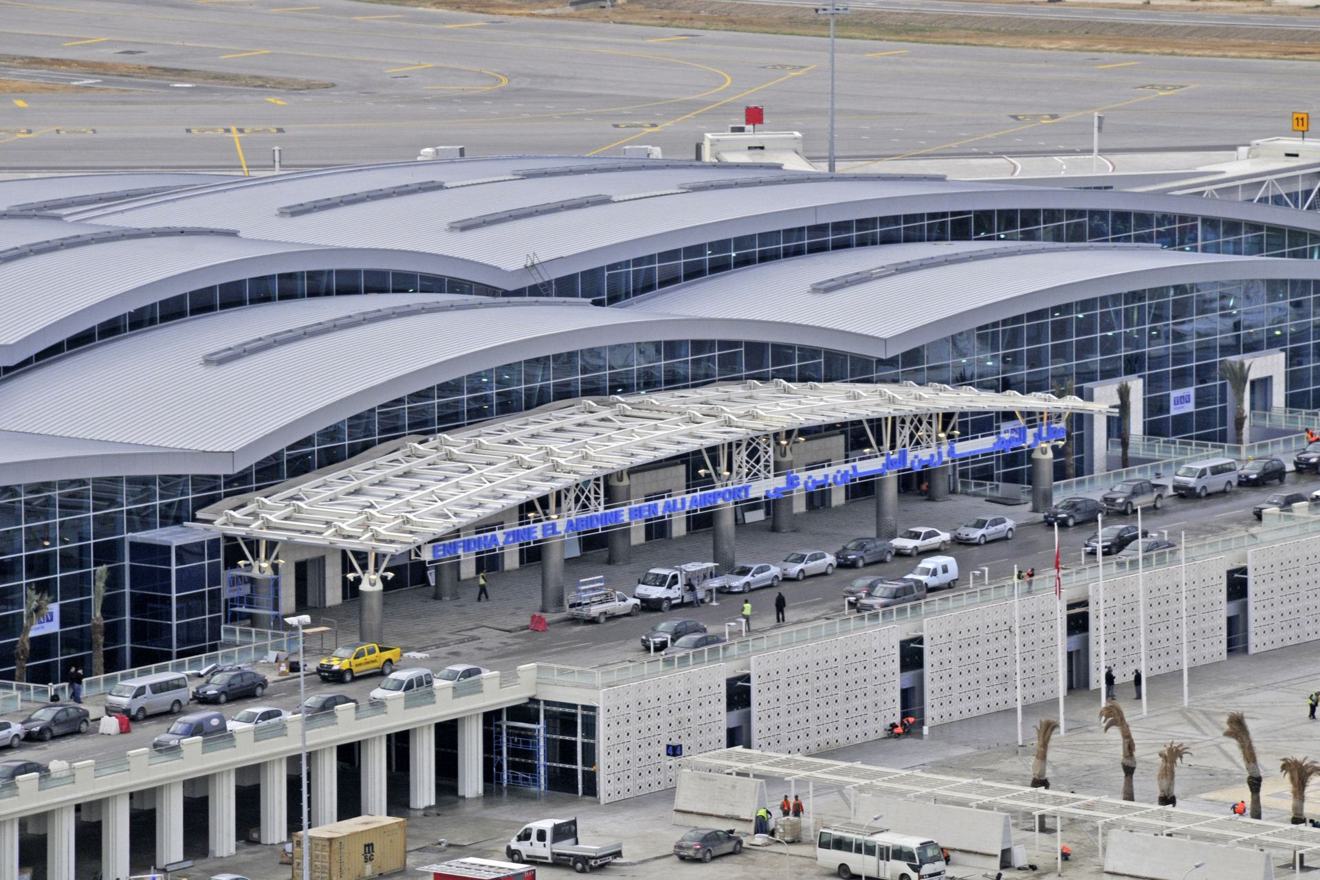 The new terminal building of Enfidha Airport, Tunisia