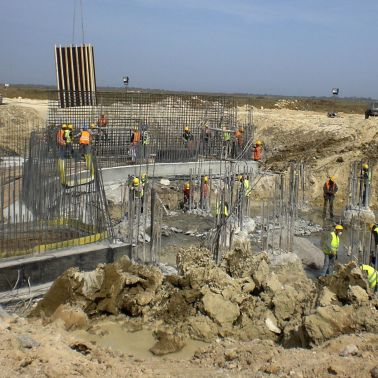 Construction site of Enfidha Airport, Tunisia