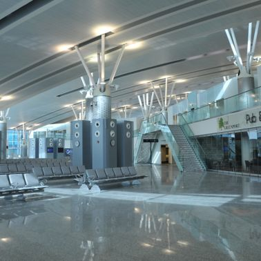 Departure lounge of Enfidha Airport, Tunisia