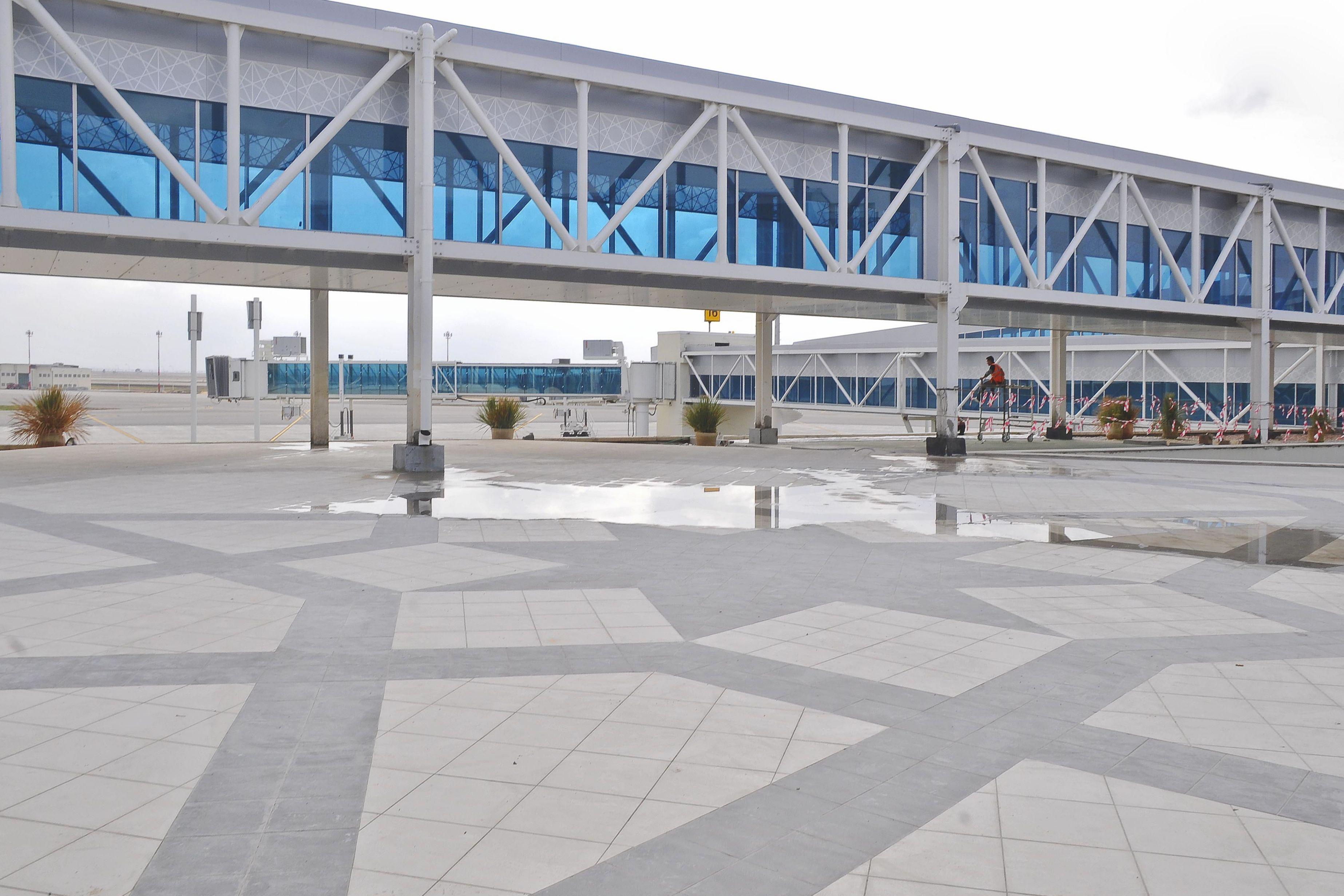 Passanger boarding bridge at the Enfidha Airport in Tunisia