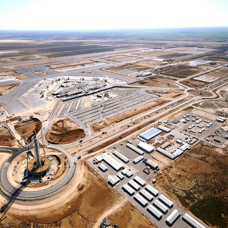 Enfidha机场,突尼斯的施工现场