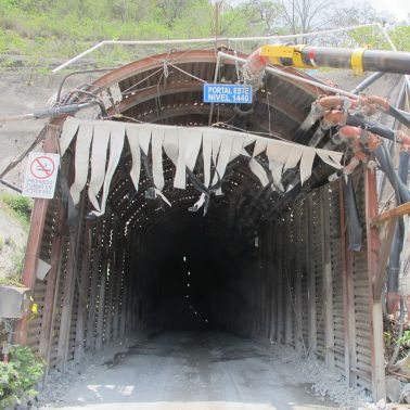 El Escobal Mine Portal for underground access