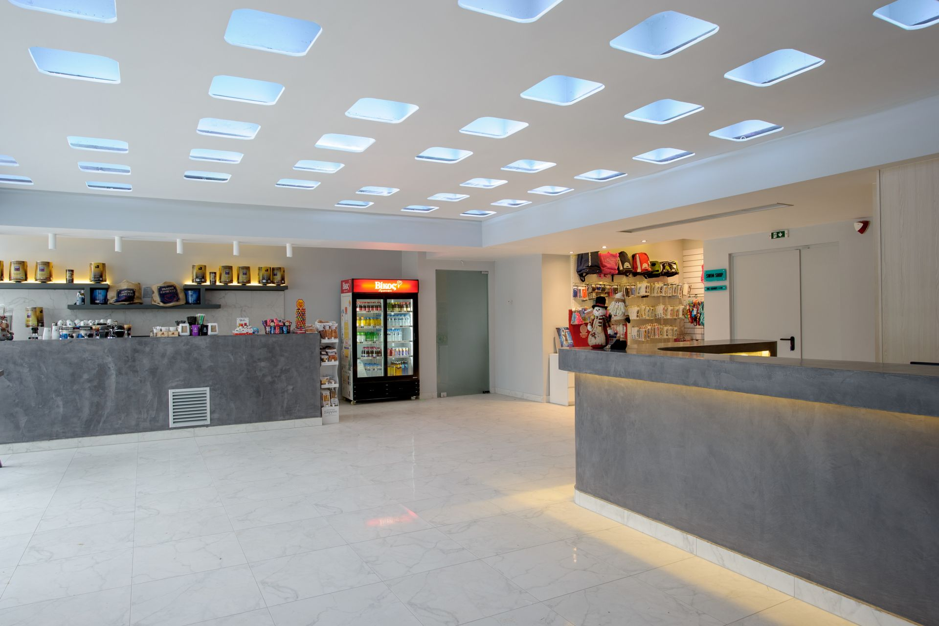 The canteen of the Epirus Sport and Health Center in Ioannina, Greece