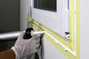 Sealing window frame with Sika Boom expansion foam
