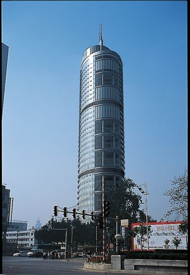 Reference for bonded facade jingsu telecom building china