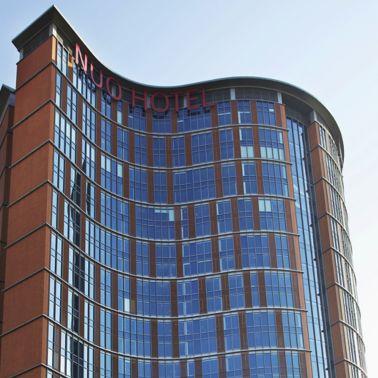 Facade of the nuo hotel in beijing china has been bonde
