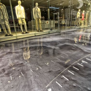 Metallic floor coated with Sikafloor in DFO Homebush shopping center