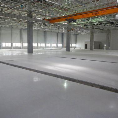 Sikafloor coatings on floors in Volkswagen Plant in Wrzesnia