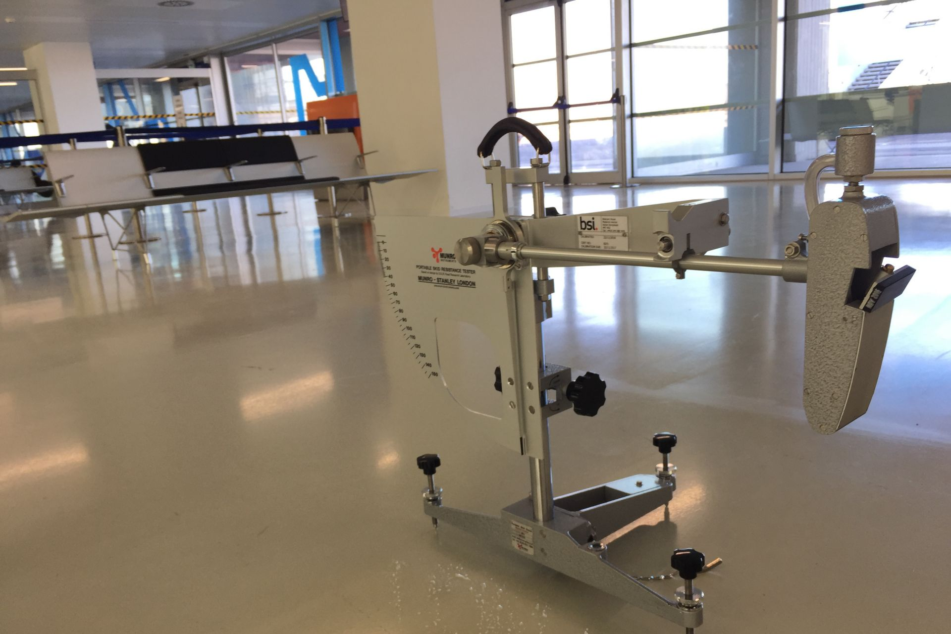 Flooring machine in use at the Trieste Airport