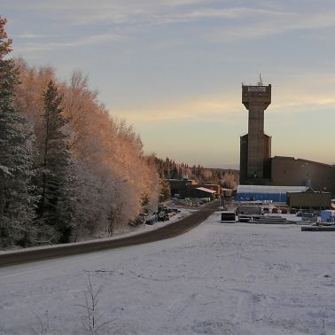 The Garpenberg South Shaft on a crisp winter morning